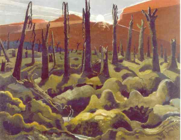 We are making a new world. Paul Nash 1918. Imperial War Museum. London