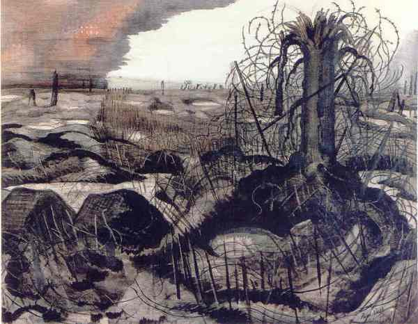 Wire. Paul Nash 1918. Imperial War Museum. London