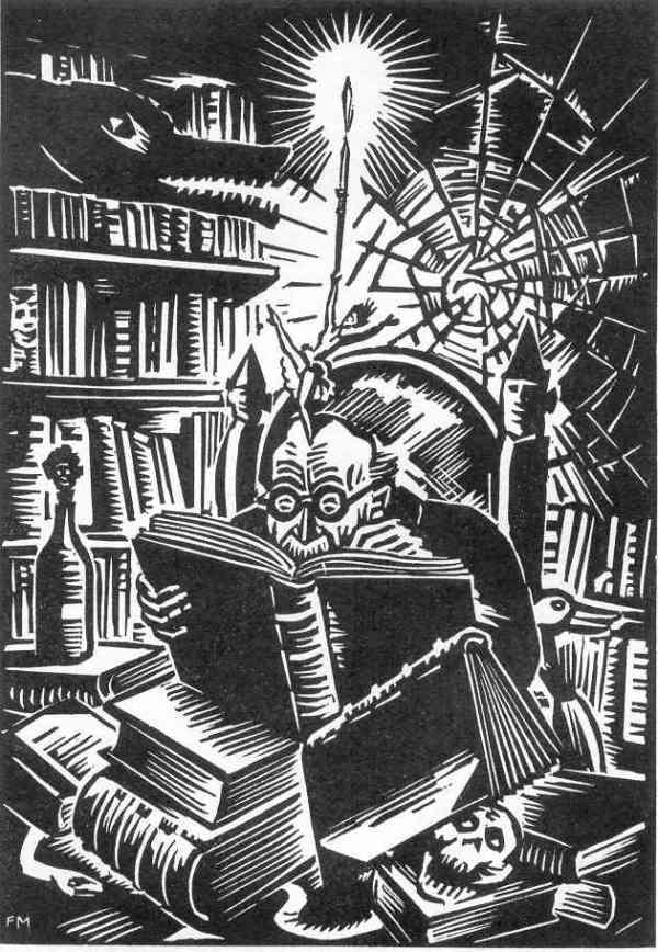 Xilografía de Franz Masereel para el Elogio de la locura