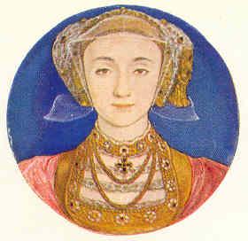Anna de Clves. Miniatura por Hans Holbein. Victoria and Albert Museum