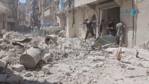 Después de un ataque químico en Aleppo.06.09.2016. Fuente Syrianarchive.org