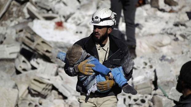 El trabajo de los cascos blancos de Siria. Fuente Euronews