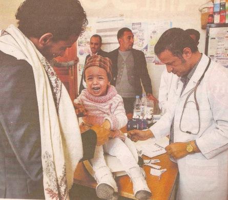 En un hospital de Sanaa. Yemen. Foto Muhammed Huwais. Dagens Nyheter. 29 dec.2016