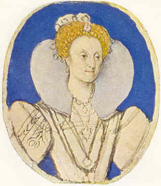Isabel I de Inglaterra por Isaac Oliver (5,48 x 5,89 cm). Victoria and Albert Museum