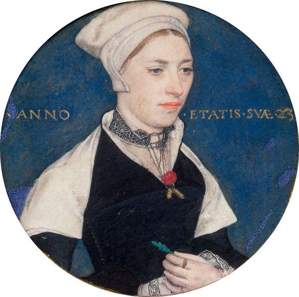 Jane Small a los 23 años por Hans Holbein. Victoria and Albert Museum