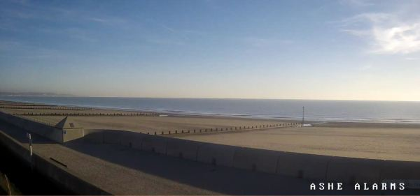 Las playas de Dymchurch. Fuente Ashe Alarms