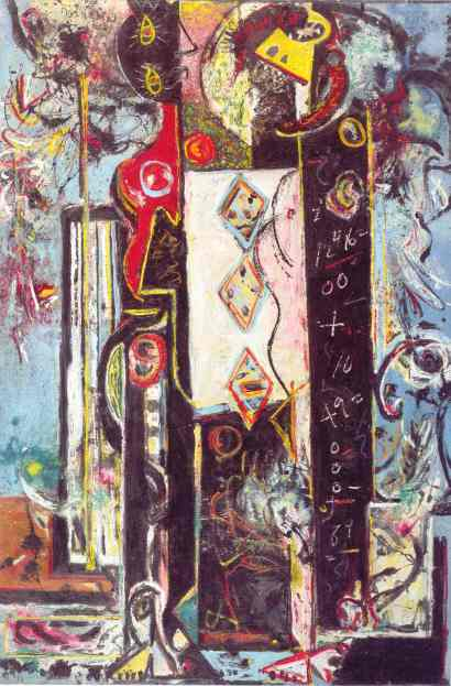 Male and Female. Jackson Pollock 1942 43. Philadelphia Museum of Art.