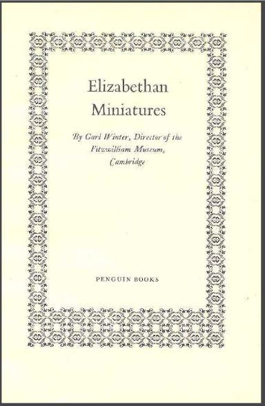 Miniaturas elizabetianas