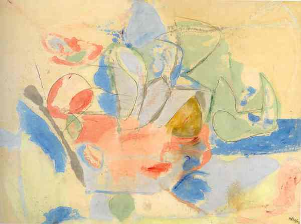 Mountains and the Sea. Helen Frankenthaler 1952. National Gallery of Art. Washington