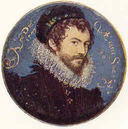 Nicholas Hillyarde. Autorretrato (3.35/02 cm) a los 30 años (1577)