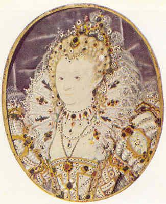 La reina Isabel de Inglaterra por Nicholas Hillyarde