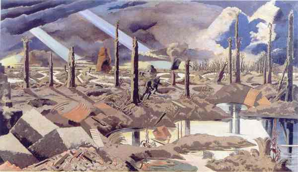 Paul Nash. The Menin Road 1918 19. Imperial War Museum