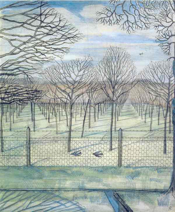 Paul Nash. The Orchard 1917. Acuarela