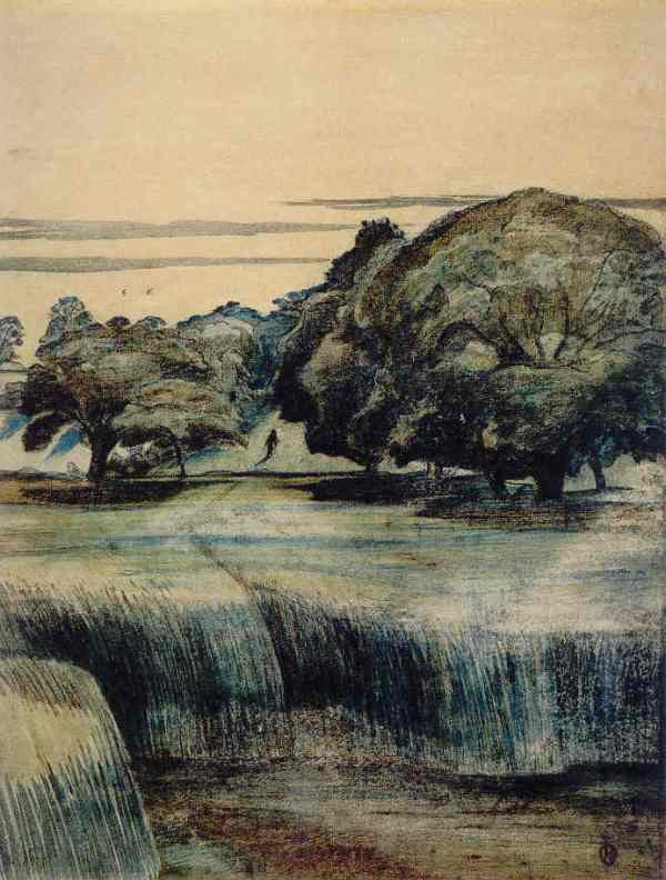 Paul Nash. The Wanderer 1911. Acuarela, tinta y carboncillo. British Museum
