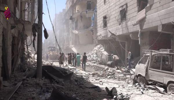 Tras los bombardeos contra civiles en Al-Mashhad district. Alepo. 26.07.2016 Fuente Syrianarchive.org