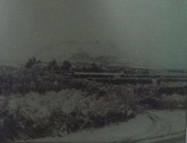 La nevada de 1983 desde el restaurante Isa. Foto de su patrón