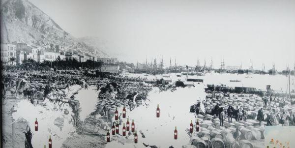 Muelles de exportación de vino. Alicante s.XIX. Casa del mármol y del vino de Pinoso. Foto R.Puig