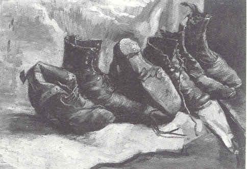 Van Gogh. Tres pares de zapatos. Fogg Art Museum. Cambridge (Massachusets)