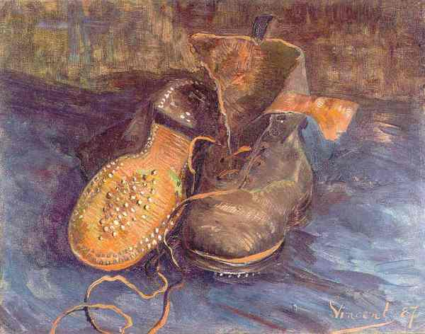 Van Gogh. Un par de zapatos. Baltimore Museum of Art