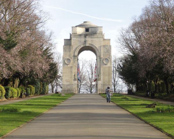 Campus de Leicester. Memorial de los caídos de las dos guerras mundiales. Foto R.Puig