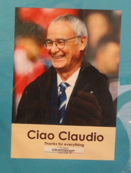 Ciao Claudio. En el Gelato Village. Leicester Foto R.Puig