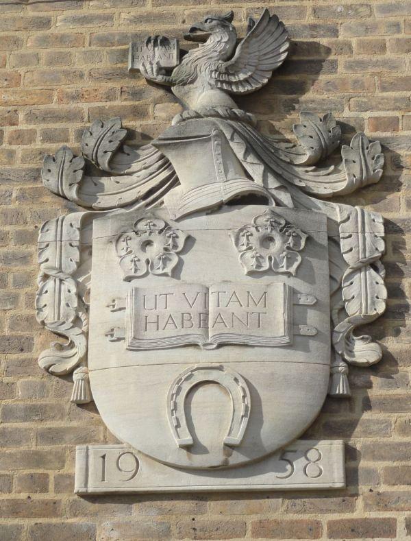 El motto fundacional de la Universidad de Leicester. Foto R.Puig