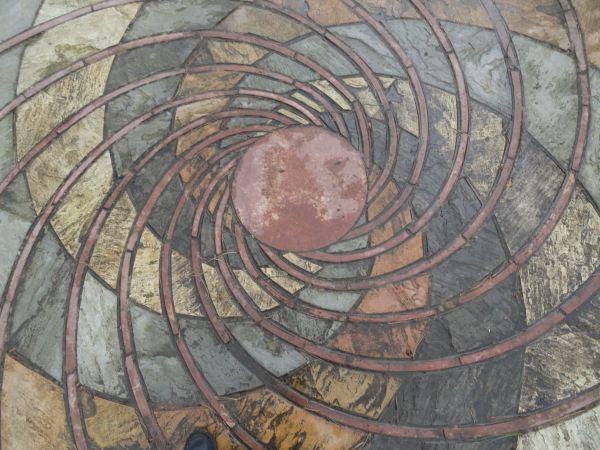 Espiral vegetal de Fibonacci.Detalle. Botánico de Leicester. Foto R.Puig -
