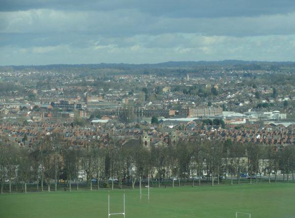 Vista de Leicester Sur desde el Charles Wilson Building. Foto R.Puig