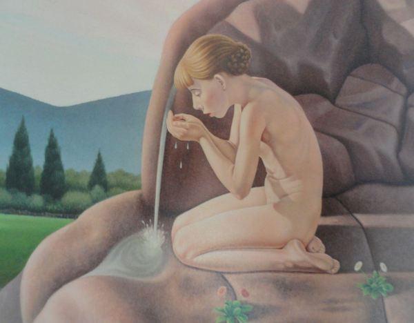 Cagnaccio di San Piero. El manantial. 1935 - 39. Detalle. Museo de Arte Moderno de Trento y Rovereto