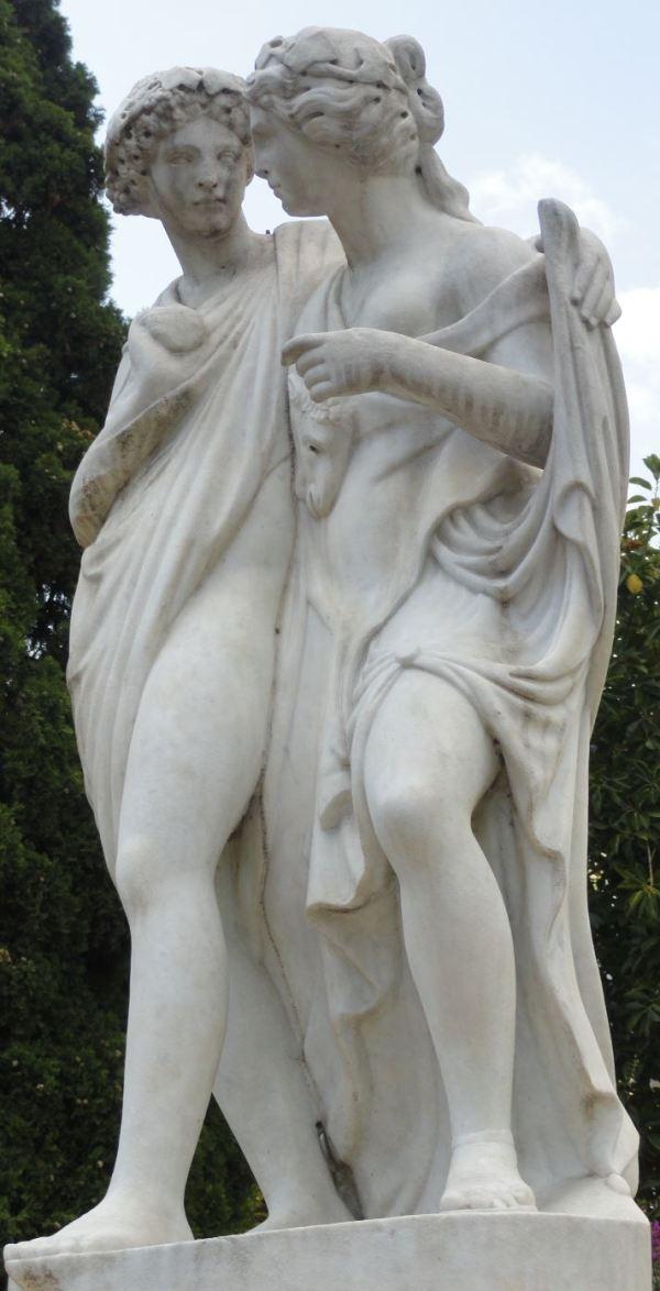 Dafnis y Cloe. Jardines de Monforte. Valencia. Foto R. Puig