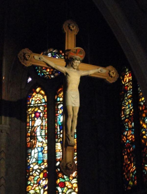 El Cristo de la Iglesia de Lyserkil. Foto R.Puig