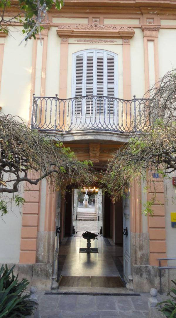 Entrada a los jardines de Monforte. Valencia. Foto R.Puig