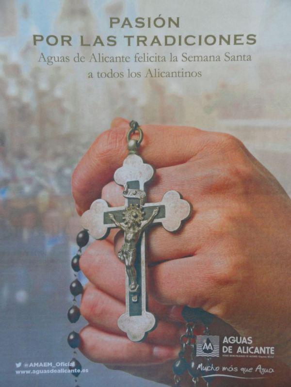 Felicitando la Semana Santa. Fuente Diario Información de Alicante