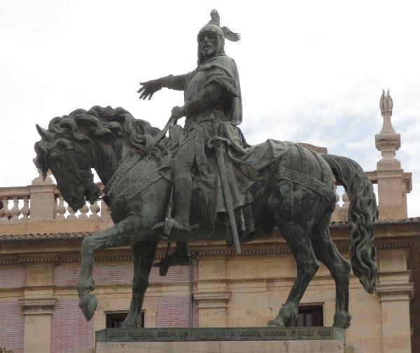 Jaime I el Conquistador según Agapito Vallmitjana.1891. Valencia. Foto R.Puig