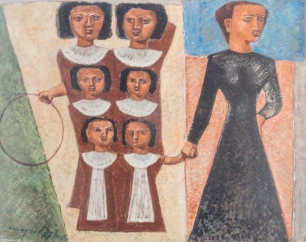 Massimo Campigli. Las educandas. 1929. Museo de Arte Moderno de Trento y Rovereto