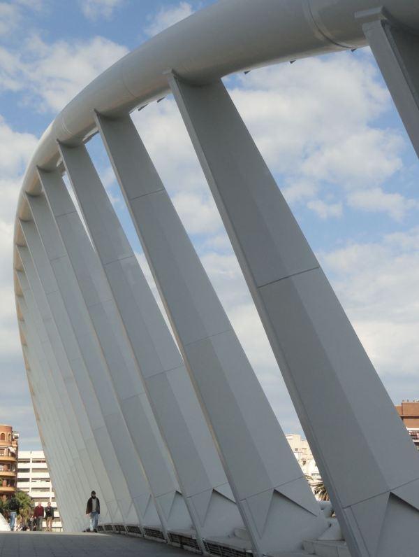 Valencia. El puente de la Peineta de Santiago Calatrava. Foto R.Puig