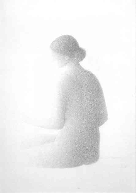Xavier Valls. Desnudo de espaldas 1977