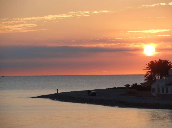Amanecer 18 de mayo 2017. Playa Almadrava. Els Poblets. Foto R.Puig