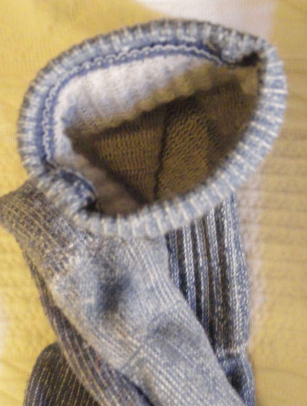 El calcetín protesta a su modo. Foto R.Puig