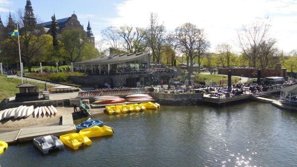 El Museo Nórdico y el embarcadero. Estocolmo.Foto R.Puig