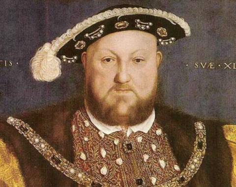 Hans Holbein el Joven. Enrique VIII. Detalle