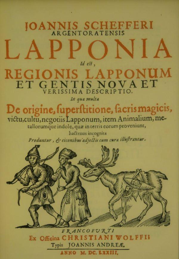 Portada de Lapponia de Iohannes Schefferus. Frankfurt. 1573 Nordiska Museet.