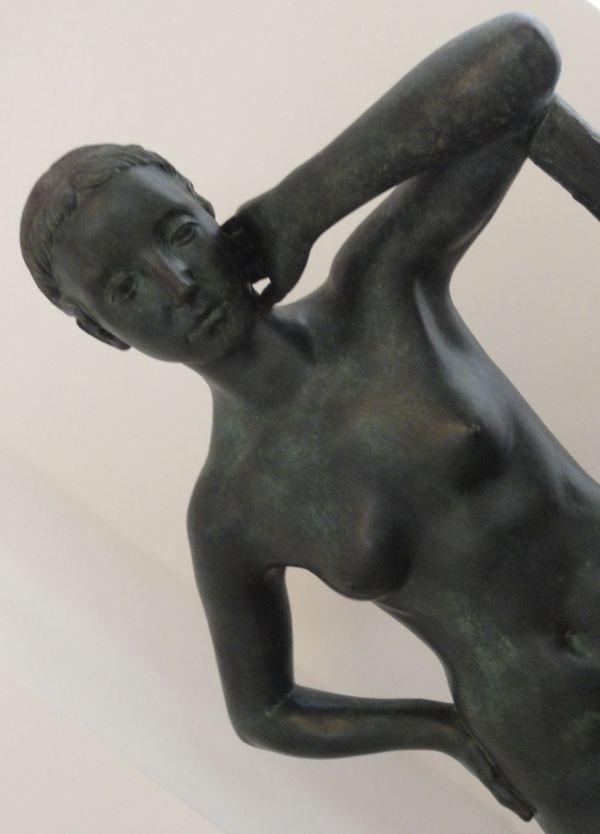 Attilo Torresini. Reposo. 1939. Bronce. Detalle Galería Comunal de Arte Moderno. Foto R.Puig