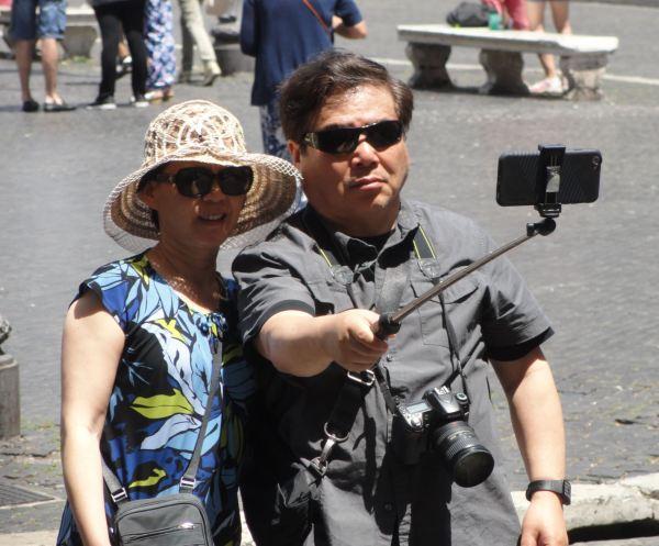 Selfie en Piazza Navona. Foto R.Puig