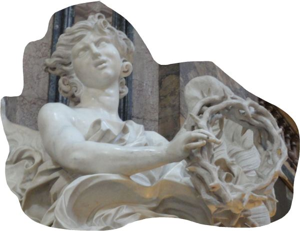 Bernini. Sant'Andrea delle Fratre. Roma. El ángel de la corona de espinas. Foto R.Puig