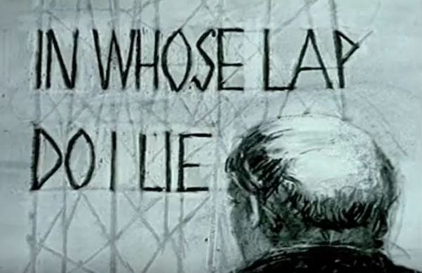 """In whose lap do I lie"" (¿En qué regazo miento?). William Kentrige"