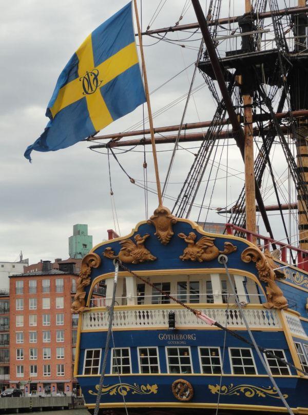 La popa del Götheborg. Foto R.Puig