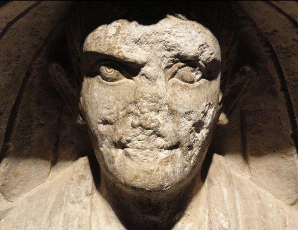 Lápida del mercader de esclavos Aiacius. Museo Romano Germano de Colonia. Foto R.Puig