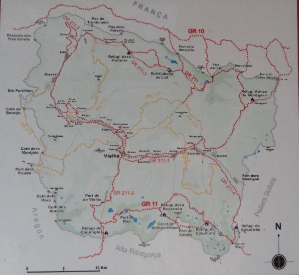 Rutas de marcha de montaña en el Valle de Arán.