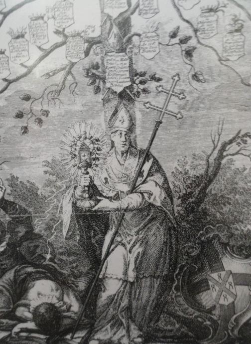 Árbol genealógico de los Premonstratenses. San Norberto en la base. Grimbergen. Foto R.Puig
